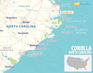 Corolla NC Map - LiveBeaches.com