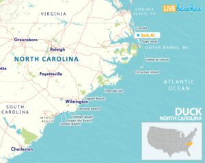 Duck NC Map - LiveBeaches.com