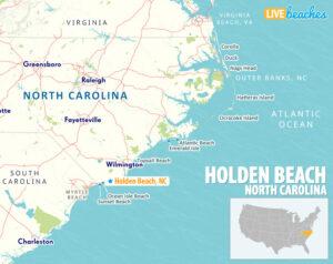 Holden Beach NC Map - LiveBeaches.com