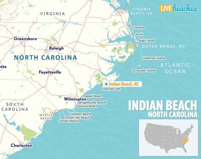 Map Of Indian Beach North Carolina
