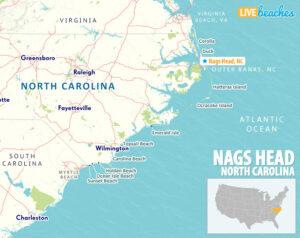Nags Head NC Map, OBX Outer Banks - LiveBeaches.com