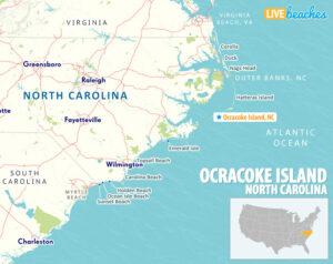 Ocracoke Island NC Map - LiveBeaches.com