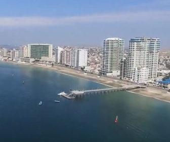 Aerial Video of Salinas, Ecuador