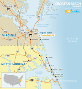 Croatan Beach, VA Map - LiveBeaches.com