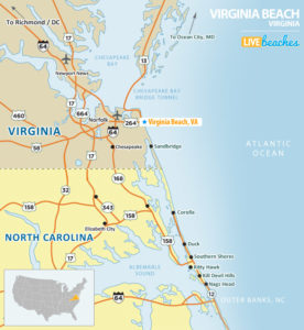 Virginia Beach, VA Map - LiveBeaches.com