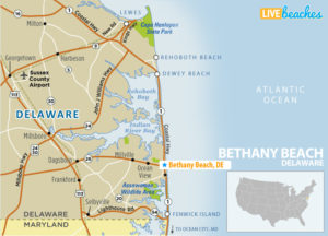Map of Bethany Beach, Delaware