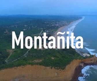 Flyover Video of Montañita, Ecuador Video Beaches