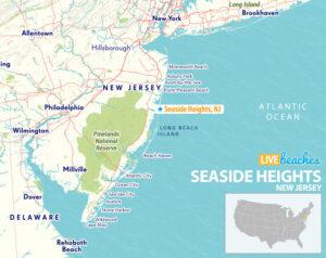 Seaside Heights New Jersey Map - LiveBeaches.com