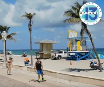 Oceans 13 Sports Bar & Grill Webcam Highlights, Hollywood Beach FL