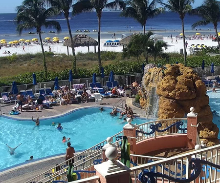 Pink Shell Beach Resort Pool Cam, Fort Myers Beach, FL
