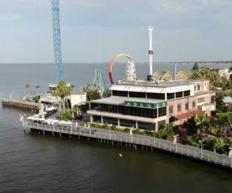 Aerial Tour of Kemah Boardwalk