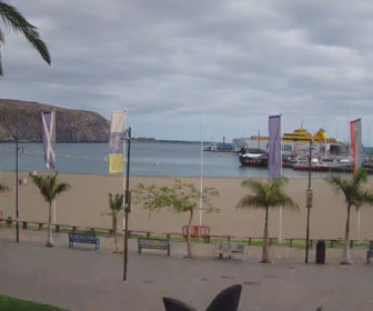 Playa de Los Cristianos Beach Webcam, Tenerife, Spain
