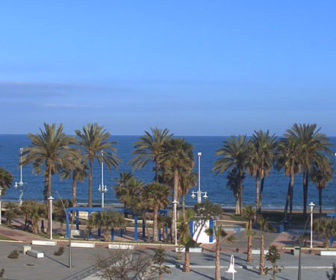 Live webcam Playa de la Misericordia in Malaga, Spain