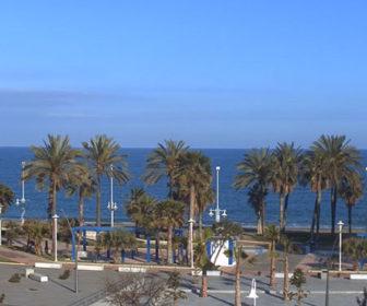 Live webcam Playa de la Misericordia in Malaga, Spain