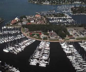 Waterford Harbor Marina, Aerial Tour Kemah, Texas