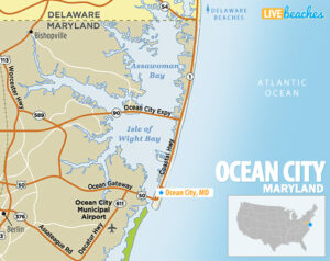 Map of Ocean City, MD - LiveBeaches.com