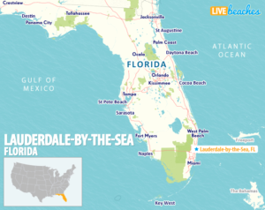 Lauderdale Map - LiveBeaches.com