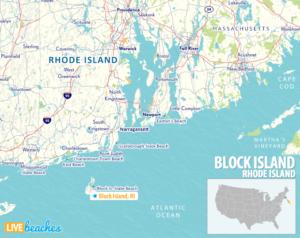 Map of Block Island, Rhode Island