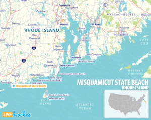 Map of Misquamicut, Rhode Island - LiveBeaches.com