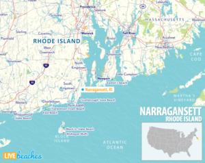 Map of Narragansett, Rhode Island