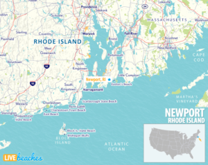 Map of Newport, Rhode Island