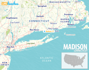 Map of Madison, Connecticut - LiveBeaches.com