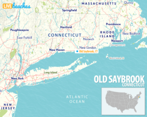 Map of Old Saybrook, Connecticut - LiveBeaches.com