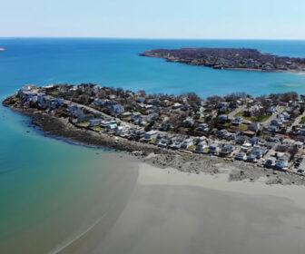 Aerial Tour of Nahant Beach, MA