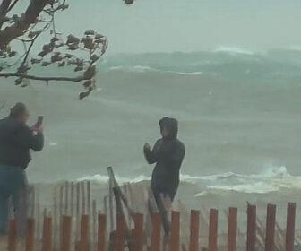 Huge Waves Video - Holland State Park on Lake Michigan