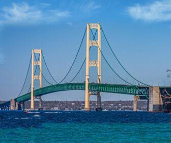 Mackinac Bridge Cam, Lake Michigan