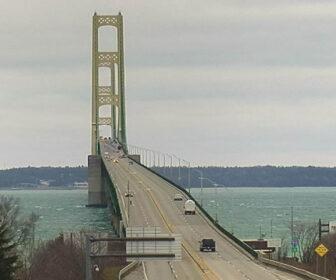 Mackinac Bridge Traffic Cam Upper and Lower Peninsulas of Michigan
