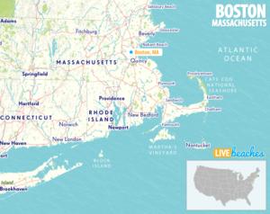Map of Boston, Massachusetts - LiveBeaches.com