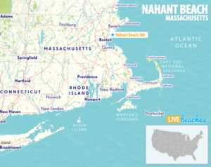 Map of Nahant Beach, MA