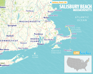 Map of Salisbury Beach, MA