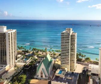 Hilton Waikiki Beach Live Surf Cam, Honolulu, Island of O'ahu Hawaii