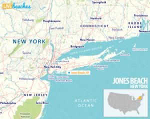 Map of Jones Beach, New York