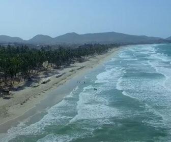 Aerial Video of Isla de Margarita, Playa El Agua, Costa Rica