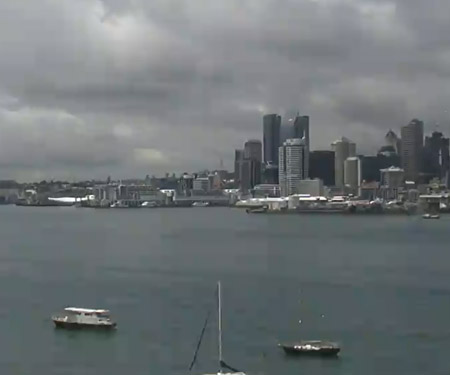 Auckland, Waitemata Harbour Sky Cam, New Zealand