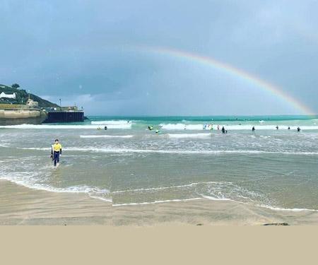 Towan Beach, Newquay Surf Cam, England UK