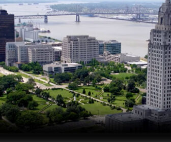Aerial Flyover Tour of Baton Rouge, LA 4k