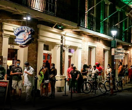 New Orleans, LA Oceana Grill Live Cam, Bourbon Street, Mardi Gras
