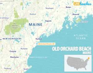 Map of Old Orchard Beach, Maine