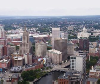 Downtown Providence, RI Aerial Flyover Drone Tour